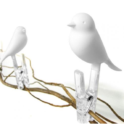 Набор прищепок Sparrow Qualy Белый 4 шт