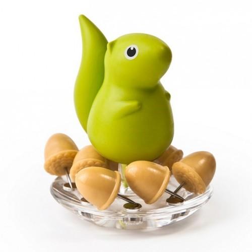 Держатель канцелярских кнопок Squirrel & Acorn Qualy Зеленый