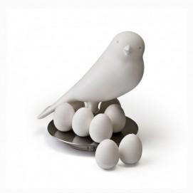 Держатель магнитов Magnetic Egg Sparrow Qualy Белый