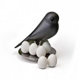 Держатель магнитов Magnetic Egg Sparrow Qualy Чёрный