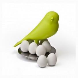 Держатель магнитов Magnetic Egg Sparrow Qualy зелёный