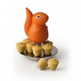 Держатель магнитов Magnetic Squirrel & Acorn Qualy Оранжевый