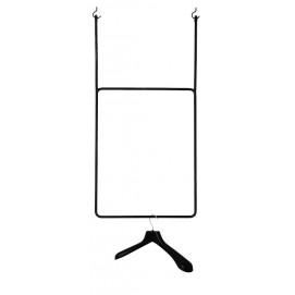 Подвесные рейлы для одежды Roof Square 100×60 черная Hairpinlegs