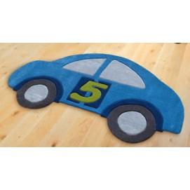 Ковер детский Joy 90*155 см машинка синяя 4031/53 Joy
