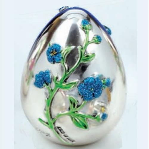 """Статуэтка """"Яйцо - голубые цветы""""1.1513ADG"""