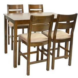Барный комплект ENVY с 4-я стульями 12613 Evelek орех