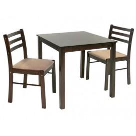 Комплект обеденный NEW STARTER с 2-я стульями 12611 Evelek коричневый