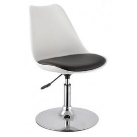 Полубарный стул ARON 27904  Evelek черно-белый