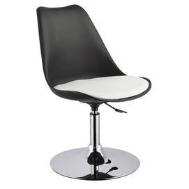 Полубарный стул ARON 27905  Evelek черно-белый