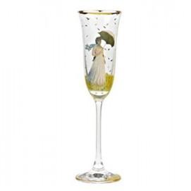 """Бокал для шампанского """"Женщина с зонтиком"""" 6.5х6.5х24 см., объем: 0.22 л., стекло 66-926-25-4"""