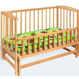 Детская кровать на шарнирах с откидной боковиной 2249