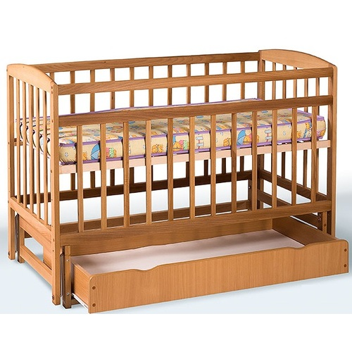 Детская кровать на шарнирах с ящиком 1140
