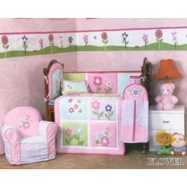 Комплект для детской кровати  90 х 114 Cy 862 Flower 1000104