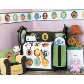 Комплект для детской кровати  90 х 114 Cy 966 Animals 1000100
