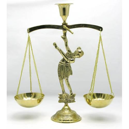 """ПОДСВЕЧНИК """"ВЕСЫ"""" БРОНЗОВЫЙ (27Х20Х7,5 СМ)(LADY BALANCE BIG)"""