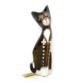 Кот деревянный сидящий (10,5х5х30 смс)(CR549S)