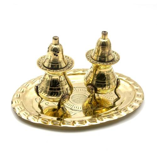 Солонка ,перечница бронза (н-р 2 шт)(17,5х12,5х9 см)(Salt & Peper set 2 Ps Polish)