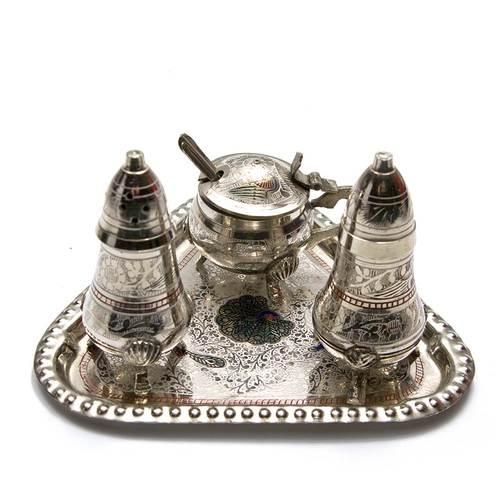 Солонка ,перечница ,горчичница бронза (н-р 3 шт)(17,5х12,5х9 см)(Salt & Peper set 3 Ps CDC)