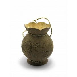 Ваза из кокоса (14х11х11 см)