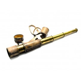 Подзорная труба в кожаном чехле(48х5,5 см)(BRASS & LEATHER TELESCOPES)