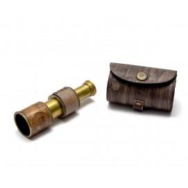 Подзорная труба в кожаном футляре (12х3,5х3,5 см)