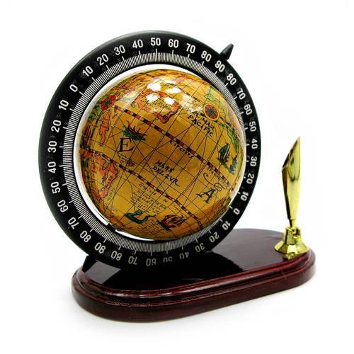 Глобус с подставкой для ручки (10х8,5х6 см)(8.5)