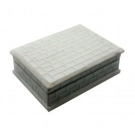 Шкатулка для украшений с мозаикой белая (18,5х13,5х6 см)(MOFU414K)