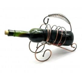 """Подставка для бутылки """"Спираль"""" металл (22,5х23,5х9,5 см)"""