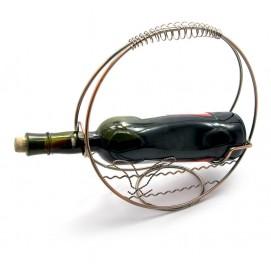 """Подставка для бутылки """"Корзина"""" металл (d-27 см)"""