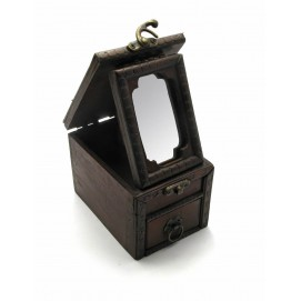 Шкатулка с зеркалом (12х8,5х8,5 см)(TH6042)