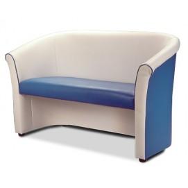 Диван двойка Шелл-2 бело-голубой D'LineStyle
