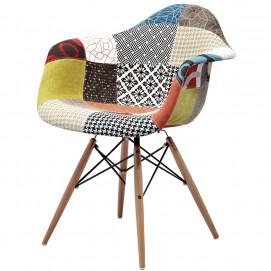 Кресло Paris fabric 132-DCV1-X Пэрис цветная ткань ноги дерево Primel