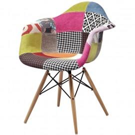 Кресло Paris fabric 132-DCV1-D цветная ткань ноги дерево Primel