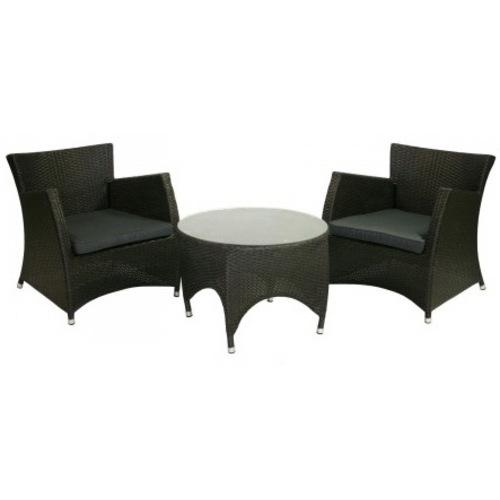 Комплект для отдыха столик со стеклом и 2 кресла VH017