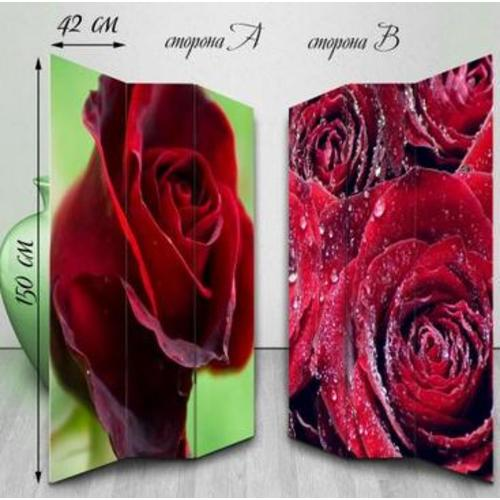 Ширма двухсторонняя Бутоны роз