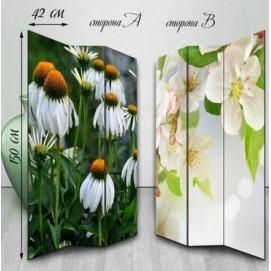 Ширма двухсторонняя Живые цветы