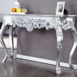 Консоль Venezia Ornament Silver 110cm (Z15634) серебро Invicta