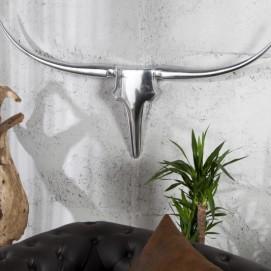 Голова (панно) Horns Bull 125cm (Z8528) серебро Invicta