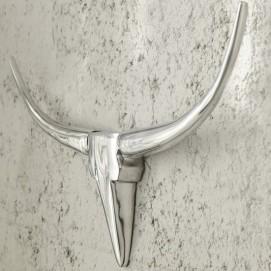 Голова (панно) Horns Bull 75cm (Z20075) серебро Invicta