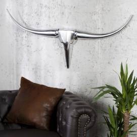 Голова (панно) Horns Bull 90cm (Z8913) Invicta серебро