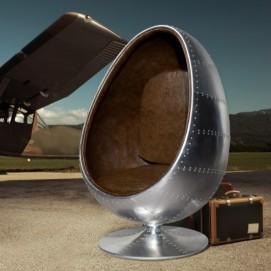 Кресло Egg Alu серебро (Z19750) Invicta