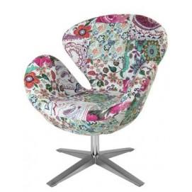 Кресло Swan Flower Power, patchwork HOME Design цветное