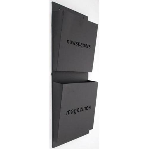 Газетница настенная News черная 78cm D329008 Dyyk