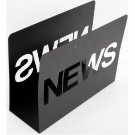 Газетница News черная 25cm (D329001) Dyyk