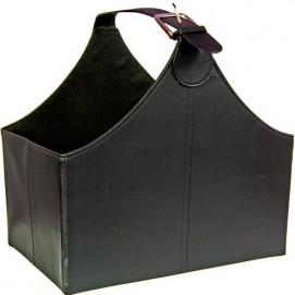 Газетница VIP Class czarny skaj 35cm (D640015) HOME Design