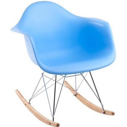 Кресло качалка  Forum RAR inspirowane 3450 HOME Design голубое ноги дерево/металл