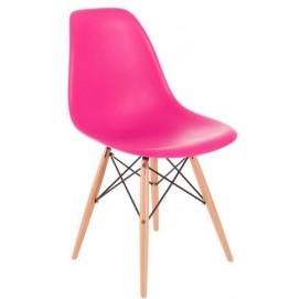 Стул  inspirowane Vitra Eams dark pink 3261 розовый HOME Design ноги дерево