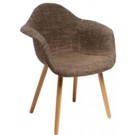 Кресло  CosyArm tapicerowane, brązowe 4082 HOME Design