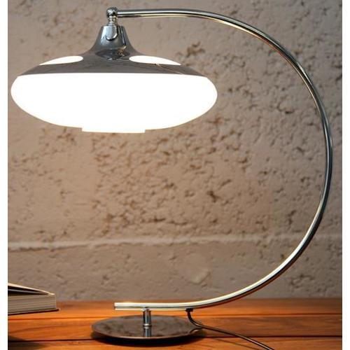 Лампа настольная Moon серебро 47cm (Z112) Invicta