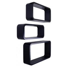 Набор полок Cube 3 szt. LO33-J HOME Design черные